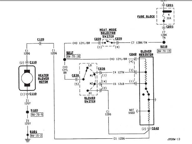 XJ Heat Not Blowing: Pre-1997 How to Diagnose and Fix | 98 Cherokee Heater Wiring Diagram |  | Nat Harward